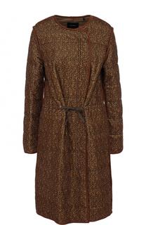Пальто из смеси хлопка и льна с поясом Isabel Marant
