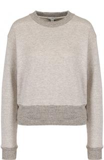 Хлопковый пуловер свободного кроя с круглым вырезом James Perse
