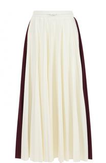 Плиссированная юбка-миди с эластичным поясом Valentino
