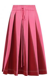 Юбка-миди в складку с эластичным поясом Valentino