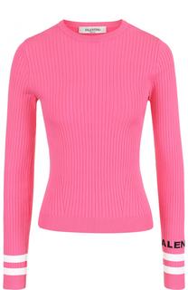 Облегающий пуловер с круглым вырезом Valentino