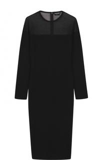 Платье-футляр из смеси кашемира и шелка Tom Ford