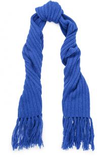 Шерстяной шарф фактурной вязки с бахромой Acne Studios