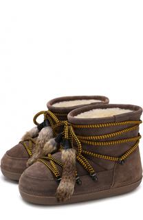 Комбинированные сапоги на шнуровке Dsquared2