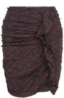 Мини-юбка с принтом и драпировкой Isabel Marant Etoile