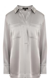 Блуза свободного кроя с накладными карманами Escada