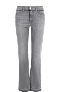 Укороченные расклешенные джинсы с потертостями Escada Sport