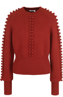 Пуловер с фактурной отделкой и круглым вырезом Chloé
