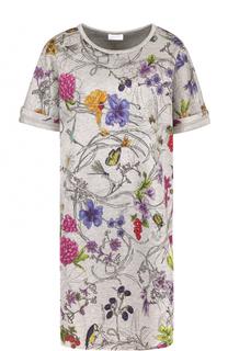 Мини-платье прямого кроя с цветочным принтом Escada Sport