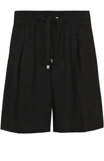 Однотонные мини-шорты с эластичным поясом и карманами Escada Sport