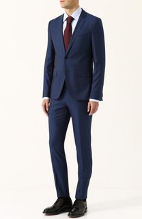 Костюм из смеси шерсти и шелка с пиджаком на двух пуговицах HUGO