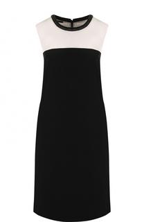 Платье-миди с контрастным лифом и круглым вырезом Escada