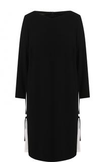 Платье-миди свободного кроя с круглым вырезом Escada