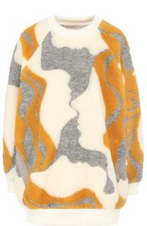 Шерстяной пуловер свободного кроя с карманами Chloé