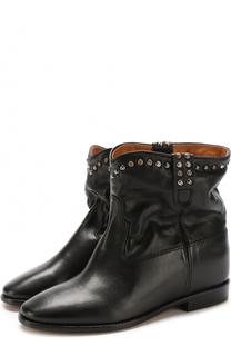 Кожаные ботинки с заклепками Isabel Marant