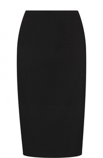 Однотонная шерстяная мини-юбка BOSS