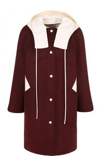 Пальто из смеси шерсти и кашемира с капюшоном Valentino