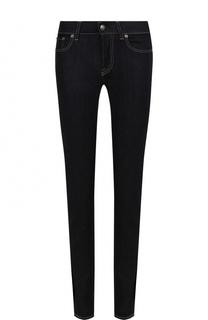 Однотонные джинсы-скинни с контрастной прострочкой Ralph Lauren