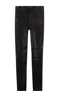 Однотонные кожаные брюки-скинни Rag&Bone Rag&Bone