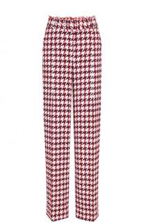 Буклированные расклешенные брюки с поясом Oscar de la Renta