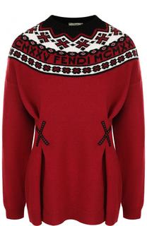 Приталенный пуловер из смеси шерсти и кашемира Fendi