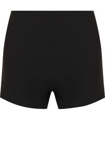Однотонные мини-шорты из смеси шерсти и шелка Valentino