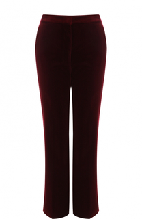 Укороченные расклешенные брюки из бархата Stella McCartney