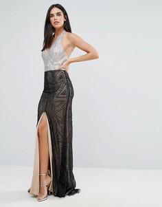 Платье-халтер макси Forever Unique - Черный