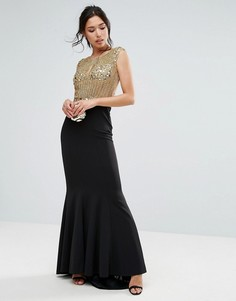 Декорированное платье макси Forever Unique - Золотой