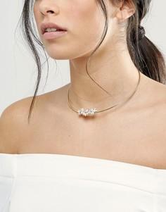 Ожерелье-чокер с камнями Johnny Loves Rosie - Золотой
