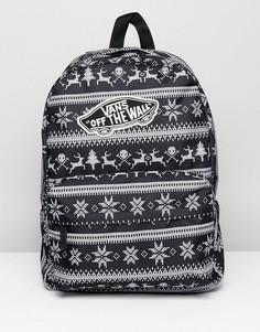 Черный рюкзак Vans Realm Holiday - Черный