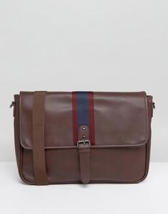 Бордовый портфель из искусственной кожи ASOS - Красный