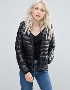 Утепленное пальто с капюшоном Brave Soul - Черный