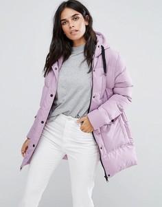 Дутое пальто средней длины Brave Soul - Фиолетовый