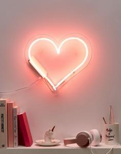 Неоновый светильник в виде сердца Talking Tables - Мульти