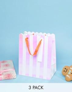 3 новогодних пакета для подарков Meri Meri - Мульти
