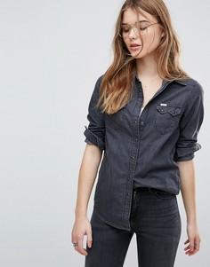 Джинсовая рубашка классического кроя в стиле вестерн Lee - Черный