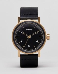 Часы с кожаным ремешком Nixon Stark - Черный