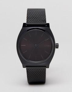 Черные часы с сетчатым браслетом Nixon Time Teller - Черный