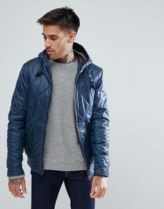 Стеганая куртка с капюшоном Ringspun - Темно-синий