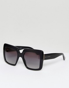 Большие квадратные солнцезащитные очки Dolce & Gabbana - Черный