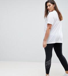 Черные леггинсы с логотипом Nike Plus Futura - Черный