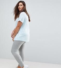 Серые леггинсы с логотипом Nike Plus Futura - Серый