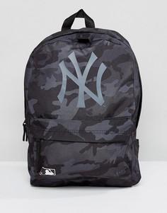 Черный рюкзак с камуфляжным принтом NY Yankees New Era - Черный