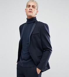 Облегающий пиджак с принтом Noak - Темно-синий