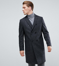 Двубортное пальто с добавлением шерсти Heart & Dagger - Серый
