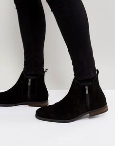 Черные замшевые ботинки с молниями Call It Spring Ocade - Черный