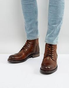 Кожаные ботинки на шнуровке Jack & Jones Russel - Коричневый