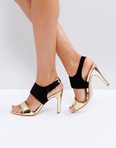 Босоножки на каблуке с пряжкой Little Mistress - Черный
