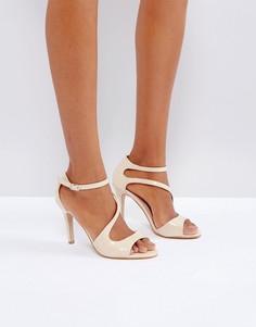 Босоножки на каблуке с перекрестными ремешками Little Mistress - Бежевый
